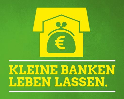 Grüne BAG Wirtschaft und Finanzen – Einladung: Kleine Banken leben lassen