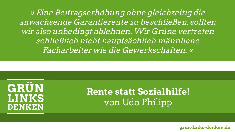 Rentendiskussion auf Bundesparteitag der Grünen
