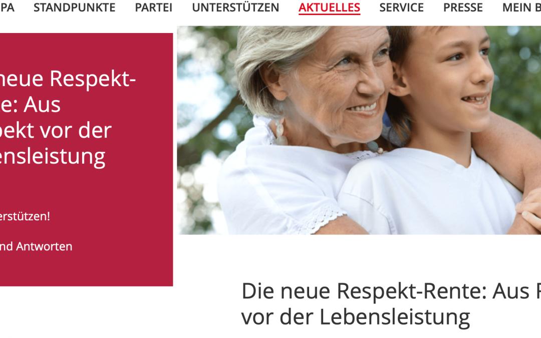 Respekt-Rente: endlich positive Signale von der SPD